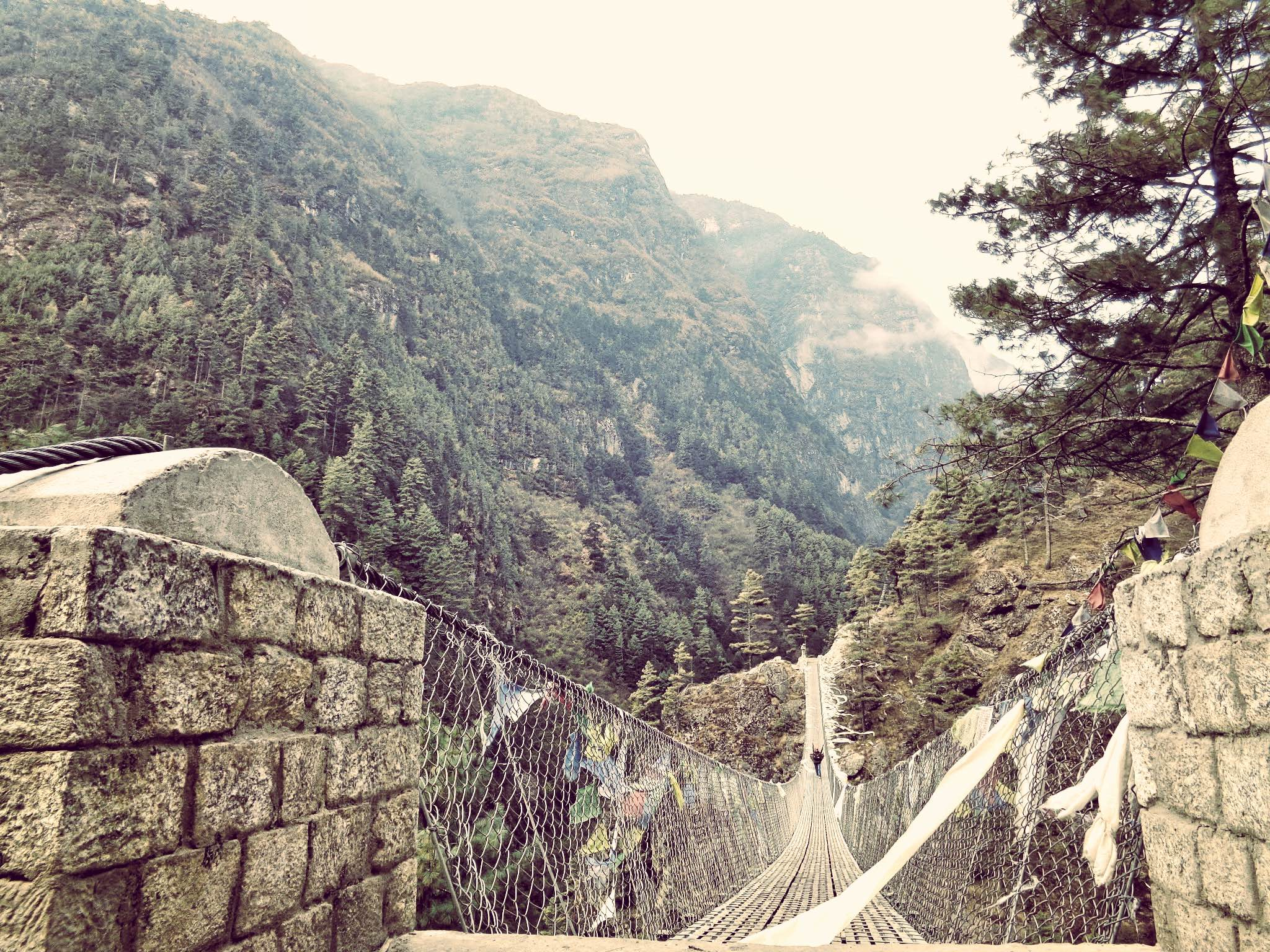 One of many bridges in Khumbu valley on Everest Base Camp Trek.