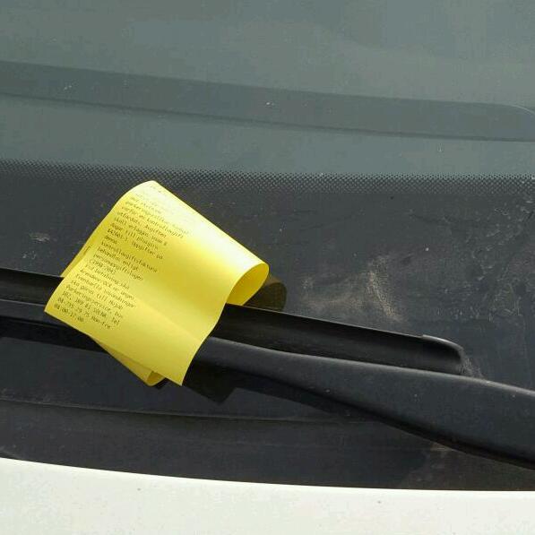 Parkeringsböter.